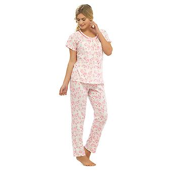 السيدات والتر غرانج الأزهار المطبوعة جيرسي بولي الأقمشة القطنية بيجاما بيجامة ملابس النوم