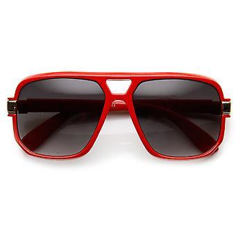 Klassiker Quadrat Rahmen Kunststoff Flat Top Pilotenbrille