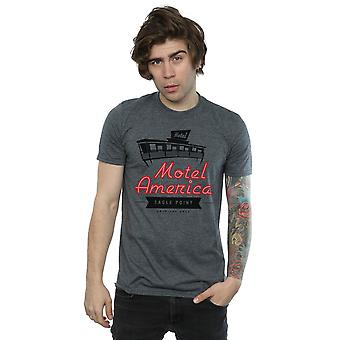 Američtí bohové muži ' s Motel Amerika neonová trička