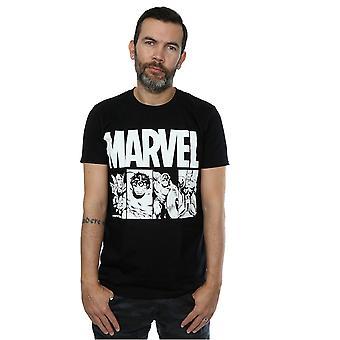 Marvel miesten sarja kuvat Action laatat T-paita