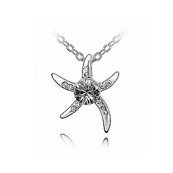Womens Silver Starfish Necklace