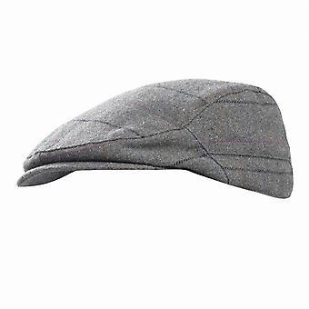 Mens controllato berretto piatto invernale in lana Blend