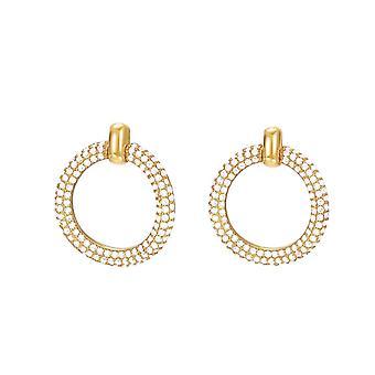 ESPRIT women's złote kolczyki cyrkonia Peribess ESER02690B000