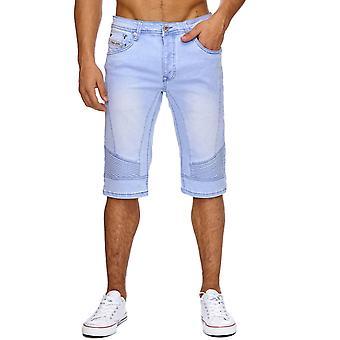 New Men's Shorts Jeans Pants Destroyed Tears Biker Stonewashed Summer Capri