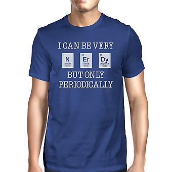 Nerdy Periodically Mens Blue Weird Science T-Shirt Funny Gift Idea