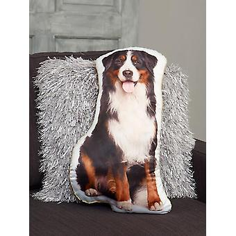 Adorable bernese mountain dog shaped cushion