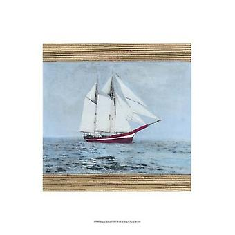 Seagrass Nautical I Poster Print by Naomi McCavitt (13 x 19)