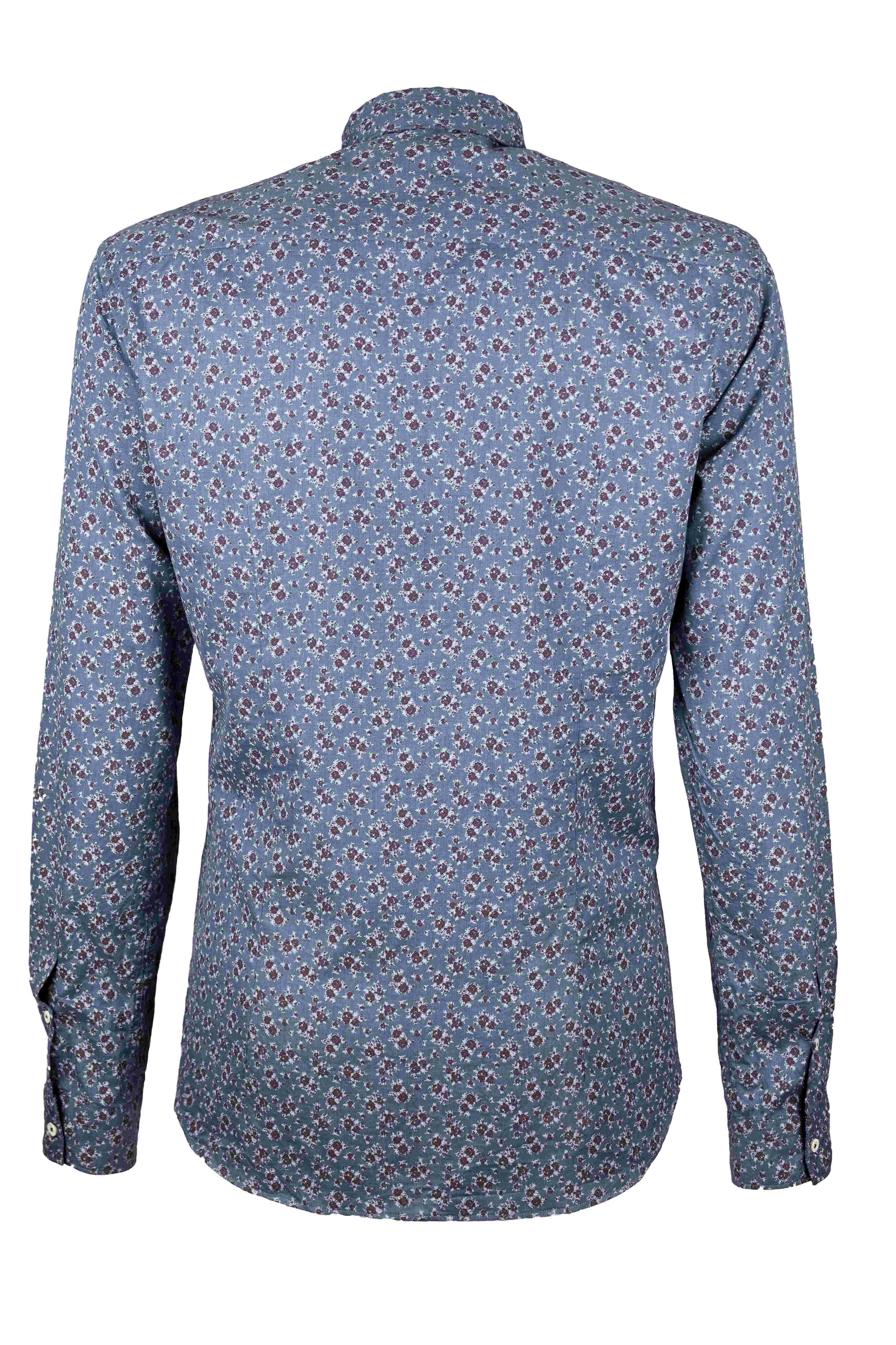 Fabio Giovanni La Serra Shirt - Mens Italian Casual Stylish Floral Shirt 100% Cotton - Long Sleeve