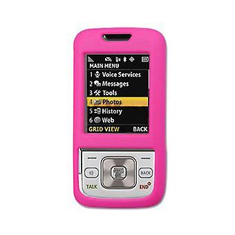 Étui de protection en plastique dur caoutchouté pour Samsung M330 - Hot Pink