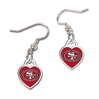 Wincraft dames 3D hart oorbellen - NFL San Francisco 49ers
