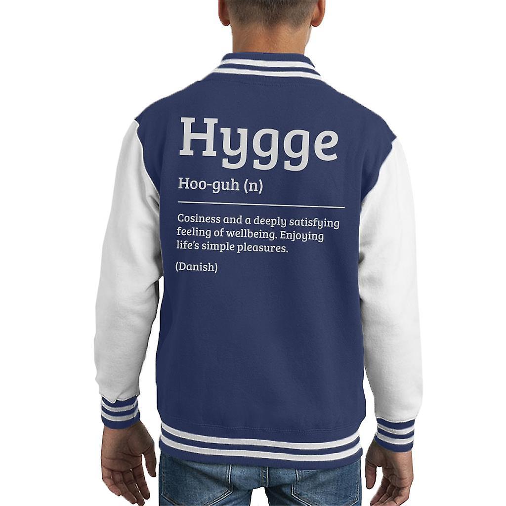 Hygge Dictionary Definition Kid's Varsity Jacket