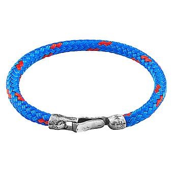 Anchor and Crew Paignton Rope Bracelet - Blue/Silver