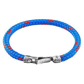Kotva a posádka Paignton lano náramok-modrá/strieborná