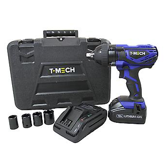 Impact Wrench 18V Electric Cordless 1/2 Inch Driver Tool / 4 x  ½ Inch sockets