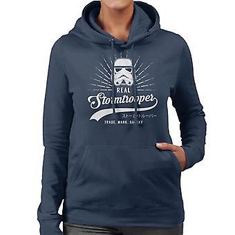 Original Stormtrooper Baseball Text Women's Hooded Sweatshirt