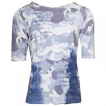 Passioni Knitted Half Sleeve Printed Jumper