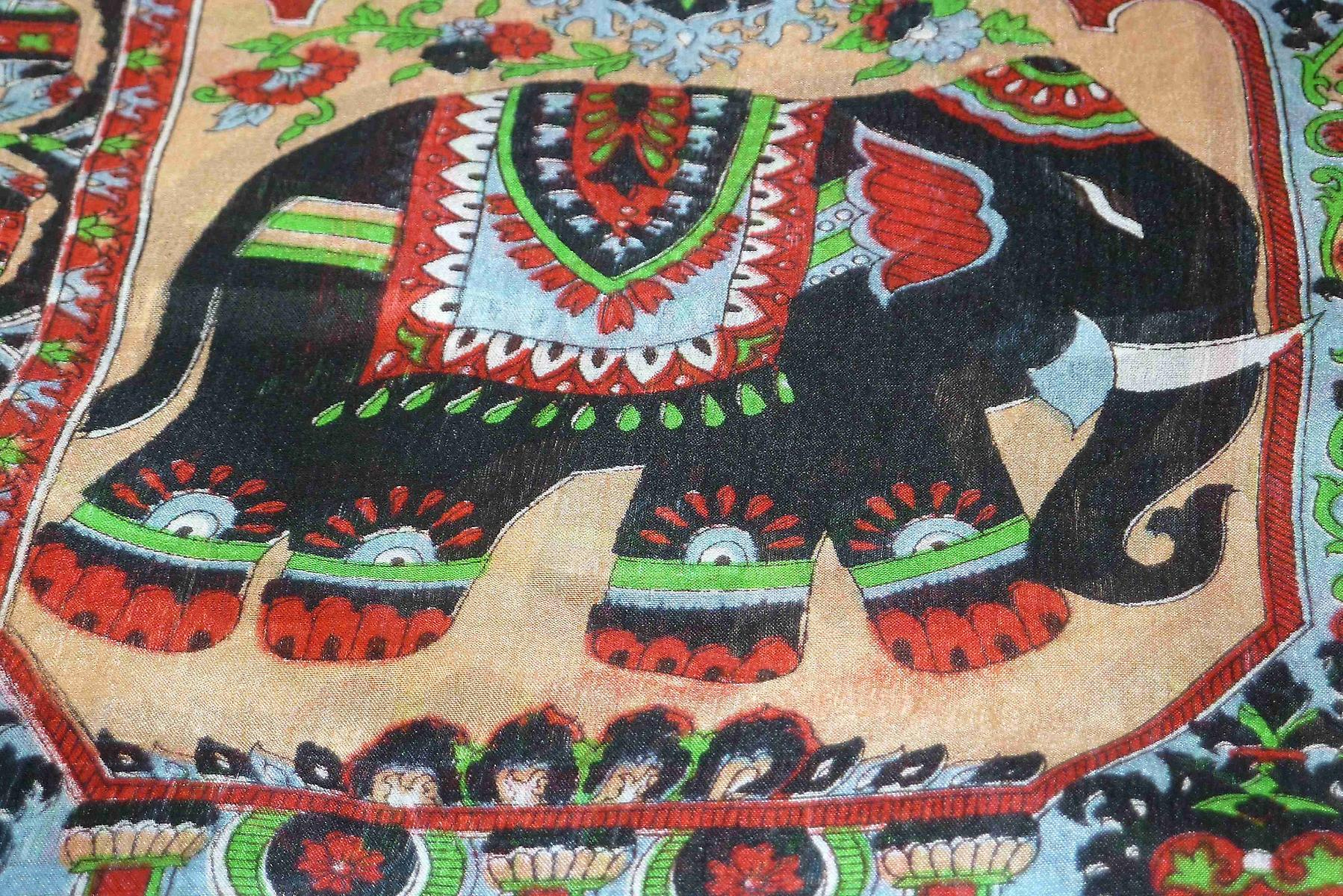 Mulberry Silk Traditional Long Scarf Kir Black by Pashmina & Silk