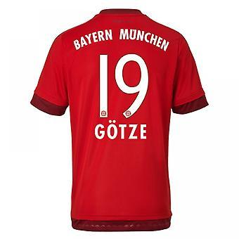 2015-16 Bayern München hjem skjorte (Gotze 19) - barn