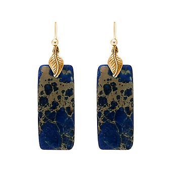 Gemshine Damen Ohrringe Lapis Lazuli Edelstein Tropfen 925 Silber edel vergoldet
