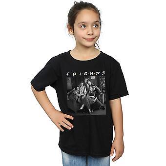 Gli amici ragazze in bianco e nero foto t-shirt