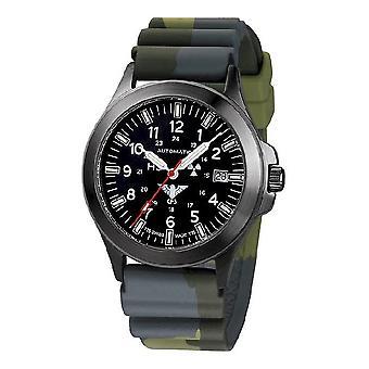 KHS horloges mens watch zwarte peloton titanium automatische KHS. BPTA. DC3