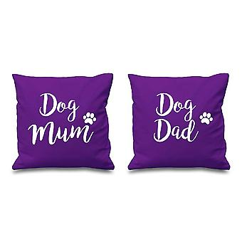 Dog Mum Dog Dad Purple Cushion Covers 16