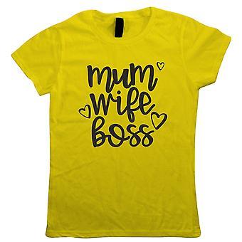 Mama Frau Boss, lustige Frauen T Shirt - Muttertag Geschenk Sie