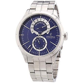 Festina F16632/2-mannen horloge, stalen, kleur: zilver