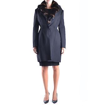 Ermanno Scervino Ezbc108001 Women's Black Wool Coat