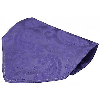 David Van Hagen Luxury Paisley Silk Handkerchief - Lilac