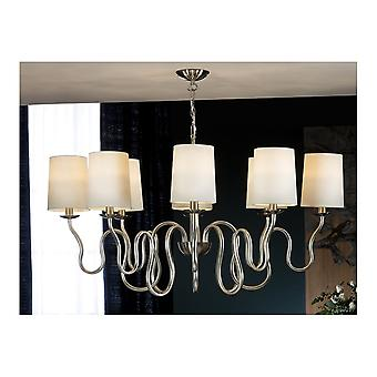Schuller Traditional Silver Upright Shade Ceiling 8 Light Pendant
