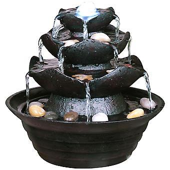 Watsons - drei Tier-Indoor Trickle-Brunnen - schwarz