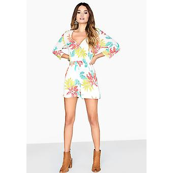 Girls On Film Womens/Ladies Disturbia Neon Palm Playsuit
