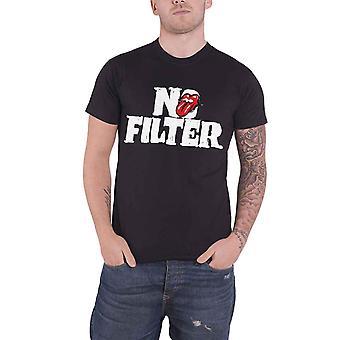 Het Rolling Stones T Shirt No Filter Tour Header Logo nieuwe officiële Mens zwart
