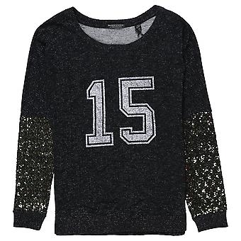 Maison Scotch Festive Sweat With College Print