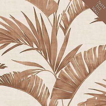 Arthouse Banana Palm Leaf kaffe tapet Indsæt væggen blade kobber metallic