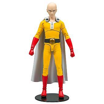En punch man action figur Saitama trykt, lavet af plastik, af McFarlane.