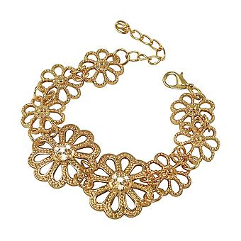 Eternal Collection Marguerite Clear Crystal Rose Gold Tone Daisy Fashion Bracelet