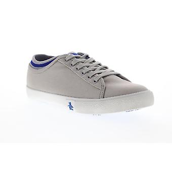 Original Penguin Damon  Mens Gray Canvas Casual Low Top Sneakers Shoes