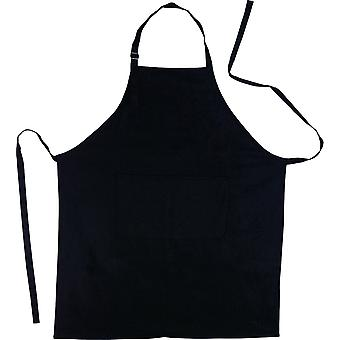 Apron - For Kitchen BBQ - Cotton Black with Adjustable Neckband - For Men and Women !
