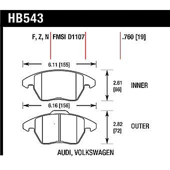 Hawk Performance HB543N.760 HP Plus
