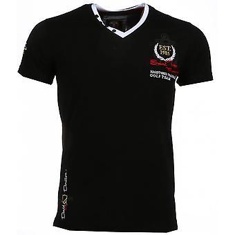 E T-shirts - Short Sleeves - Riviera Club - Black