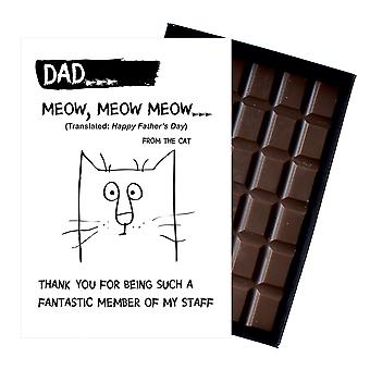 Funny Fathers Day Gifts From The Cat Presents for Dad Daddy Boxed Chocolate FD105