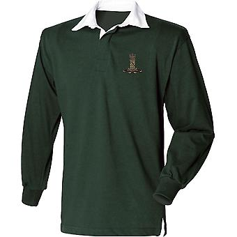 11 Hussars - Licensed British Army Embroidered Long Sleeve Rugby Shirt