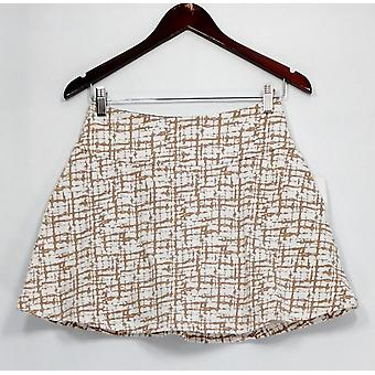 Women with Control Petite Shorts Tummy Control Printed Beige A264861