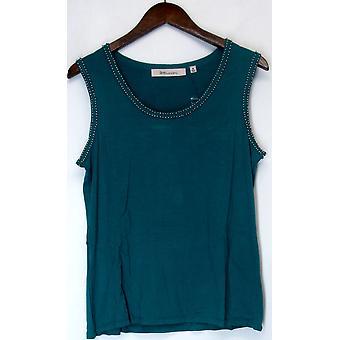 Davies by Erica Davies Embellished Knit Top Aqua Blue A201642