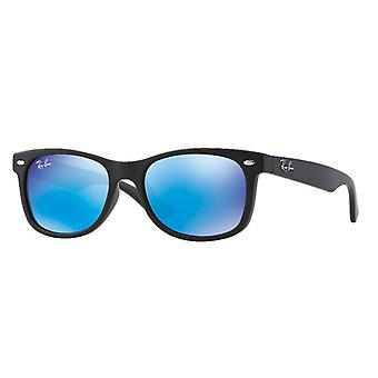 Ray-Ban RJ9052S New Wayfarer Junior Black Mat Blue Mirroir