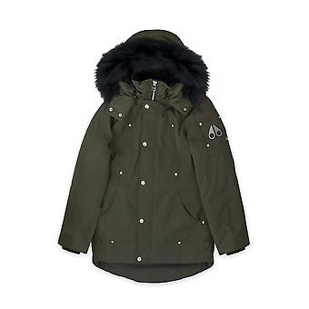 Moose Knuckles Junior Army Green Unisex Parka Jacket