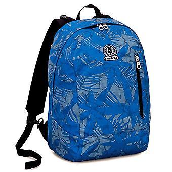 Plecak 2w1 odwracalny Invicta twist-LEAVES-niebieski-26 lt-Fantasy-Zjednoczony kolor