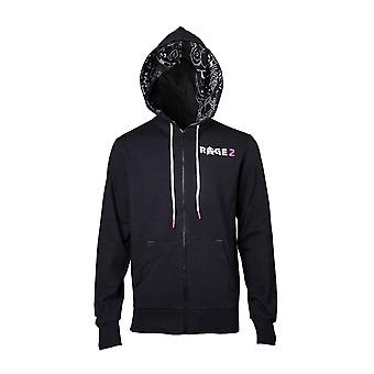 Rage 2 Hoodie Logo new Official  Gamer Mens Black Zipped
